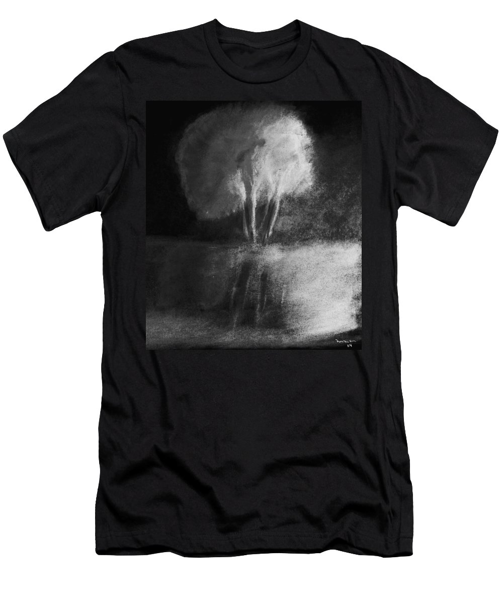 Tree Men's T-Shirt (Athletic Fit) featuring the pastel Shadow Of A Tree by Melvin Moon