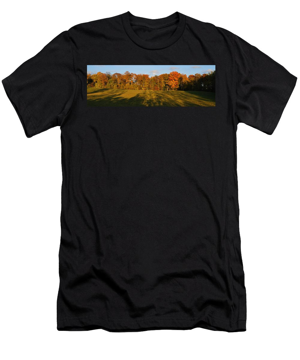 Fall Men's T-Shirt (Athletic Fit) featuring the photograph Shadows Bow by Tim Nyberg