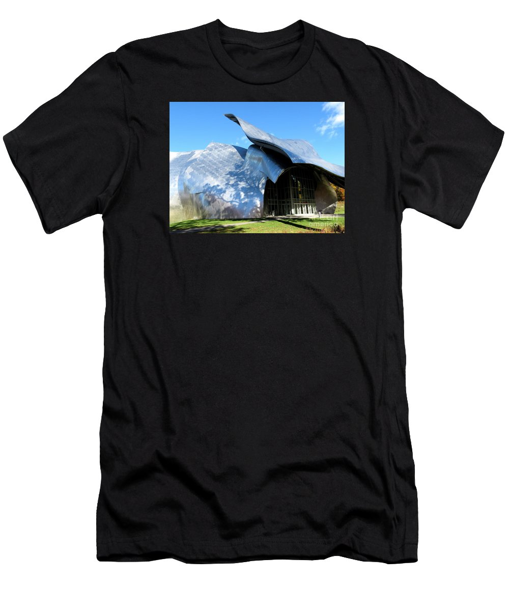 Architecture Men's T-Shirt (Athletic Fit) featuring the photograph Shadows by Maxine Kamin