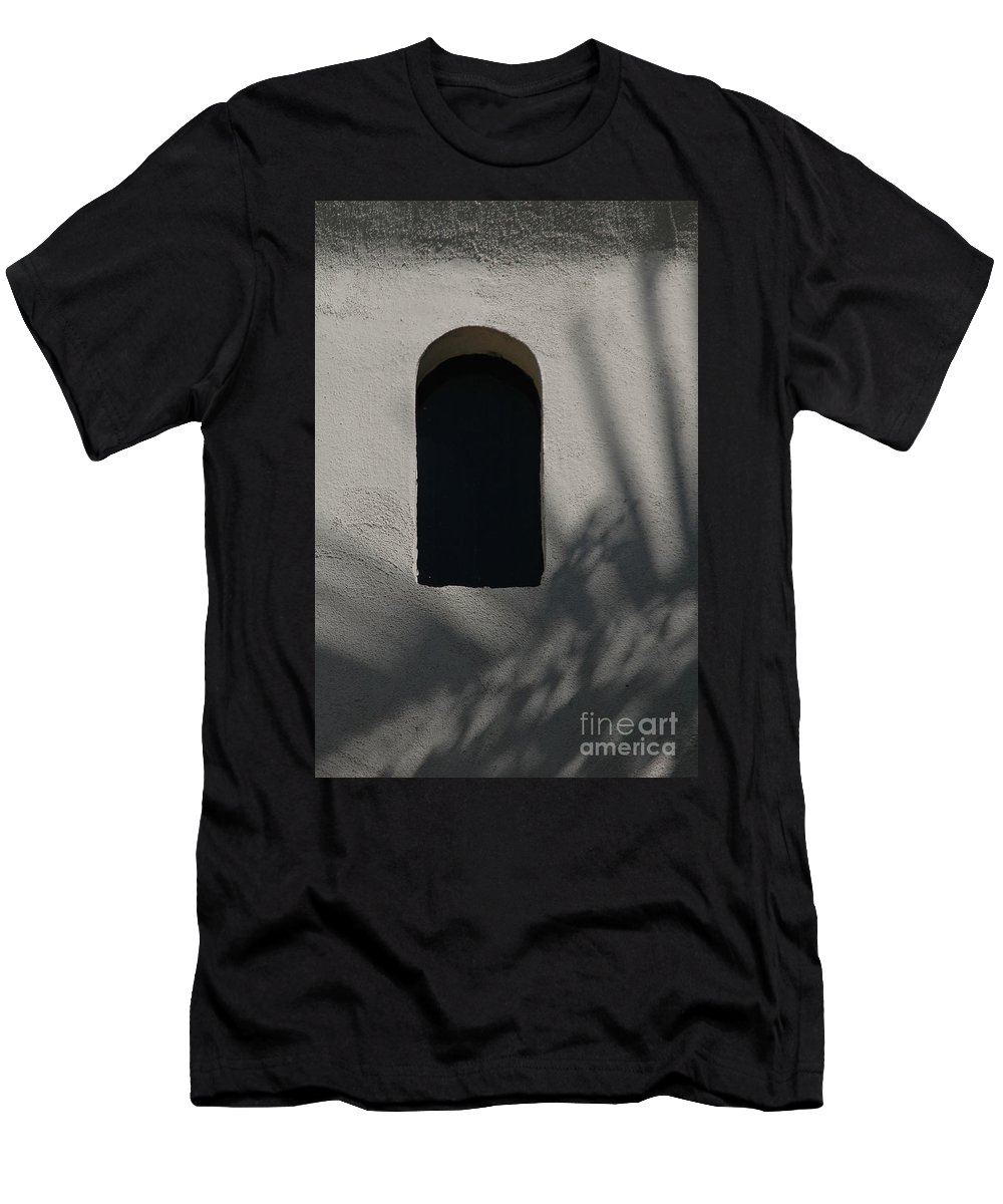 Window Men's T-Shirt (Athletic Fit) featuring the photograph Shadows On The Wall by Michael Ziegler