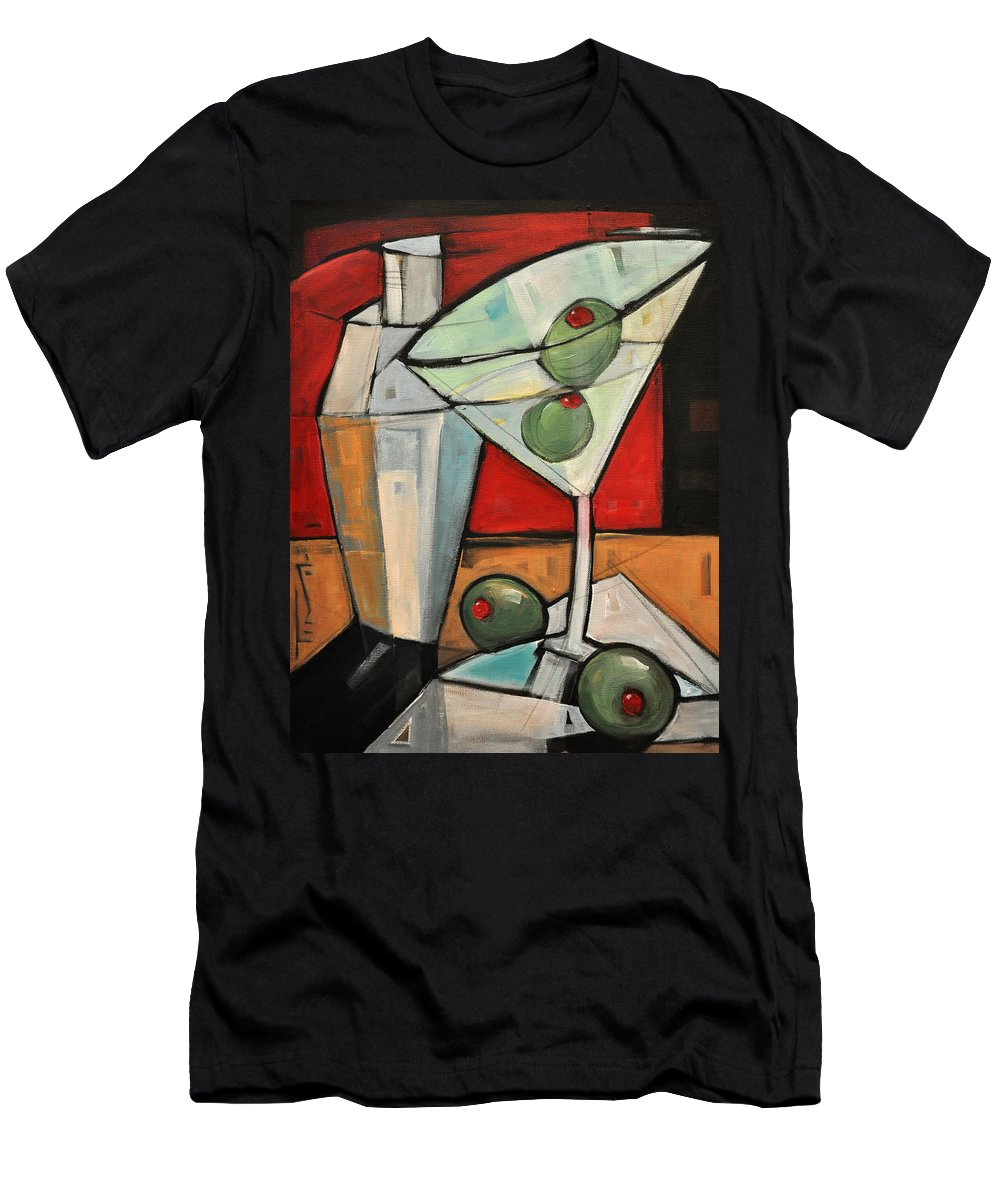 Martini Men's T-Shirt (Athletic Fit) featuring the painting Shaken Not Stirred by Tim Nyberg