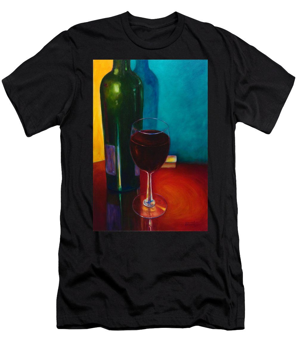 Wine Bottle T-Shirt featuring the painting Shannon's Red by Shannon Grissom