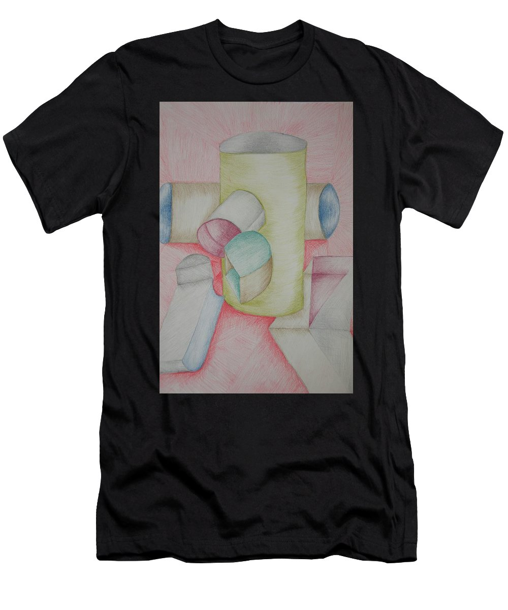 Still Life Men's T-Shirt (Athletic Fit) featuring the drawing Shaped by Marian Fordyce