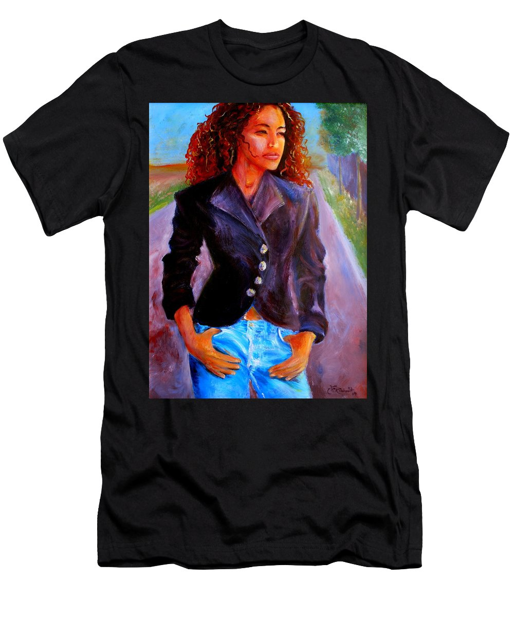 Acrylic Men's T-Shirt (Athletic Fit) featuring the painting Sharice by Jason Reinhardt