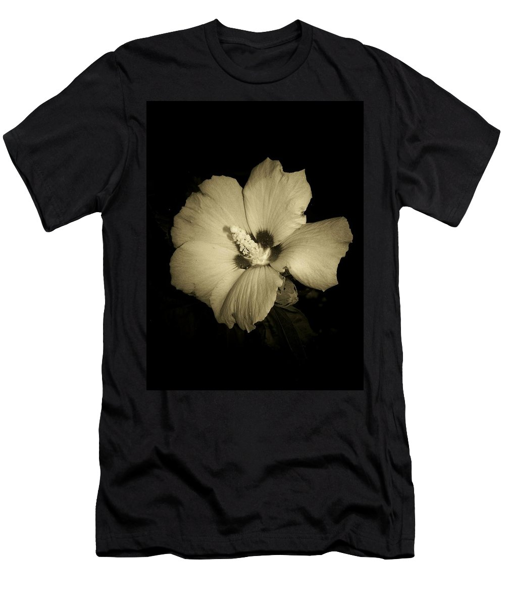 Rose Of Sharon Men's T-Shirt (Athletic Fit) featuring the photograph Sharon's Rose by Trish Tritz