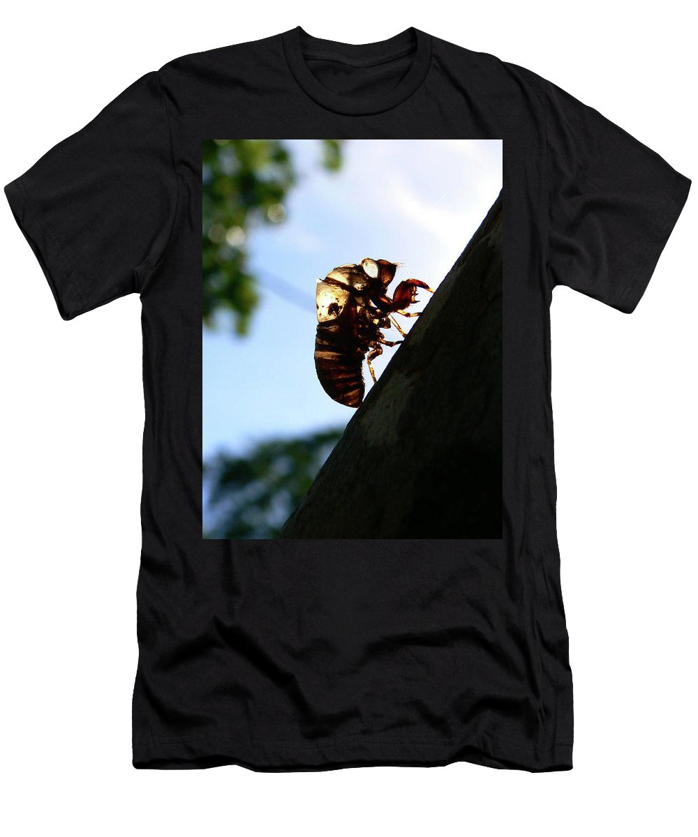 Insect Men's T-Shirt (Athletic Fit) featuring the photograph Shed My Skin by Angela Wright