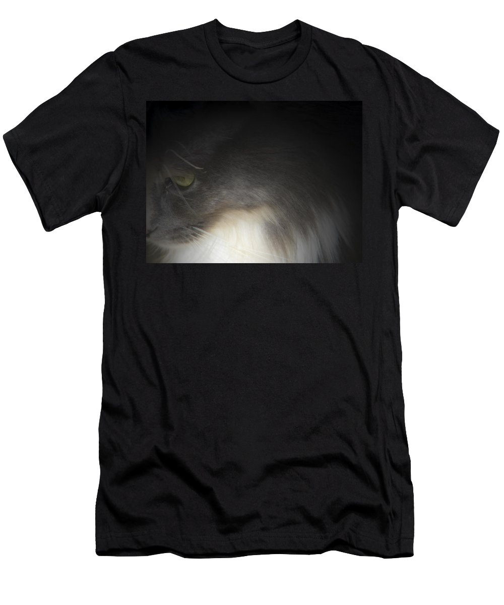 Abstract Men's T-Shirt (Athletic Fit) featuring the digital art Shelby's Soft Side by Lenore Senior