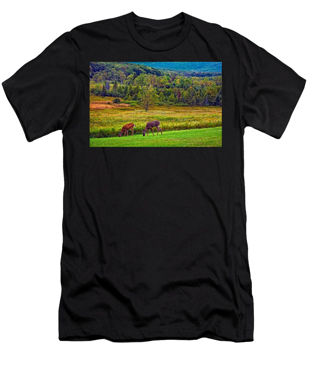 Canaan Valley Men's T-Shirt (Athletic Fit) featuring the photograph Shh... by Steve Harrington