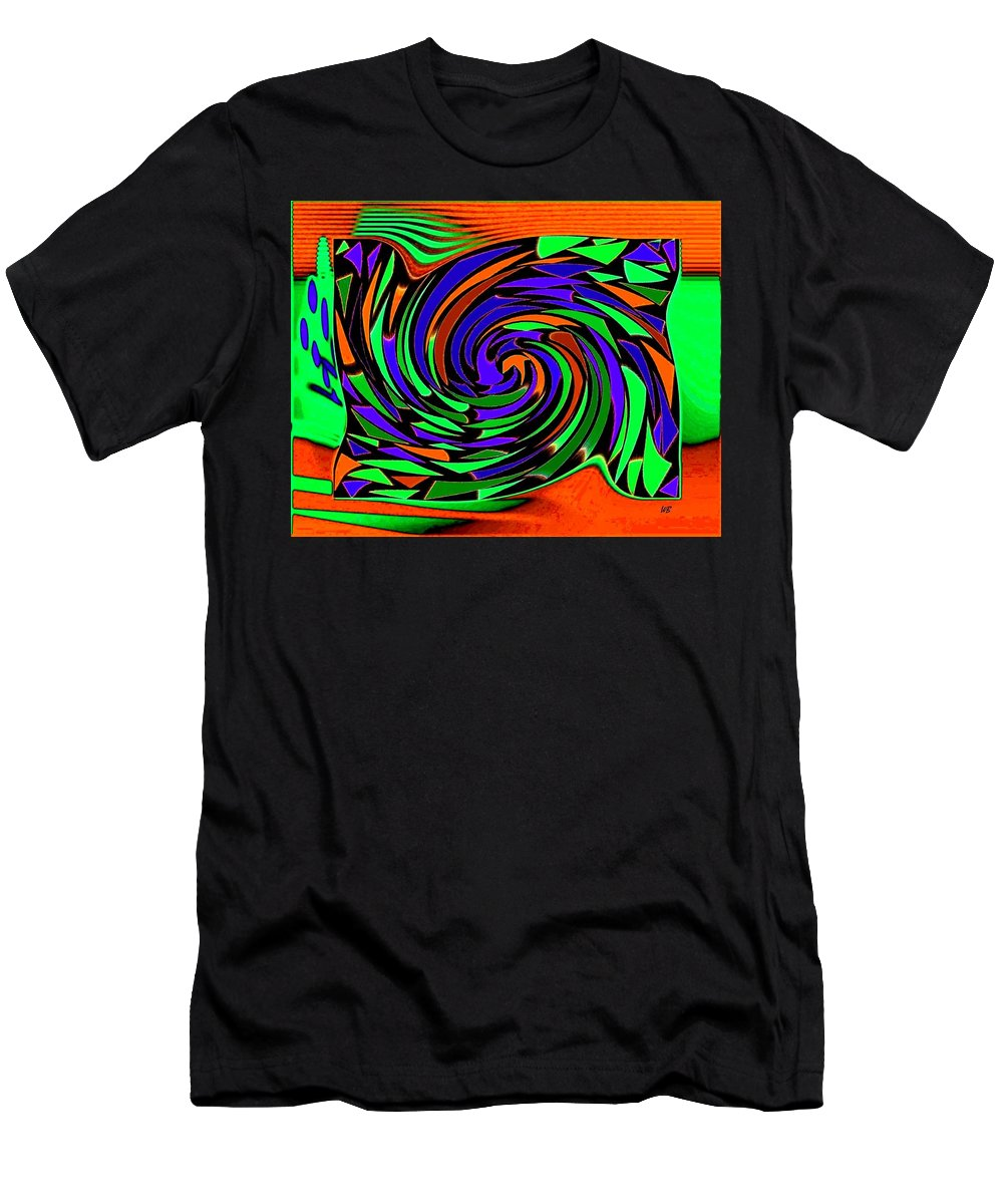 Sahara Men's T-Shirt (Athletic Fit) featuring the digital art Shifting Sands by Will Borden
