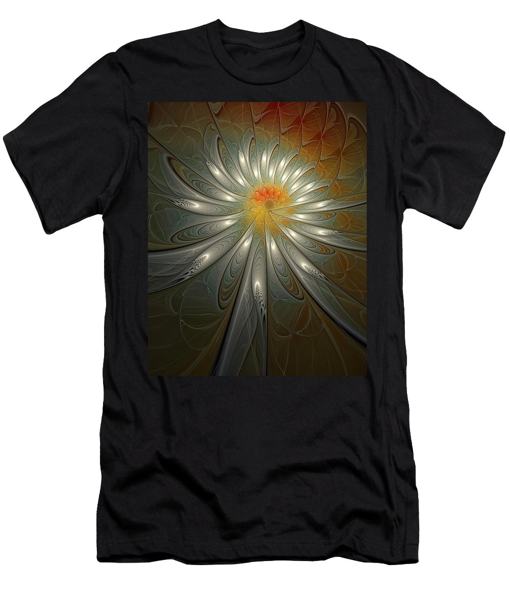 Digital Art Men's T-Shirt (Athletic Fit) featuring the digital art Shimmer by Amanda Moore