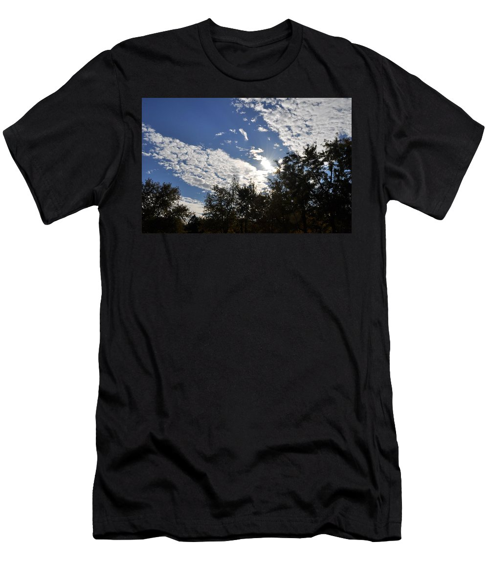 Sunny Sky Men's T-Shirt (Athletic Fit) featuring the photograph Shine And Smile by Georgeta Blanaru