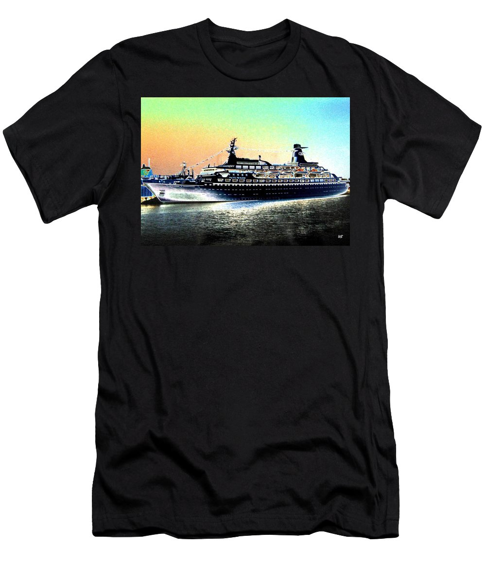 Photo Design Men's T-Shirt (Athletic Fit) featuring the digital art Shipshape 1 by Will Borden