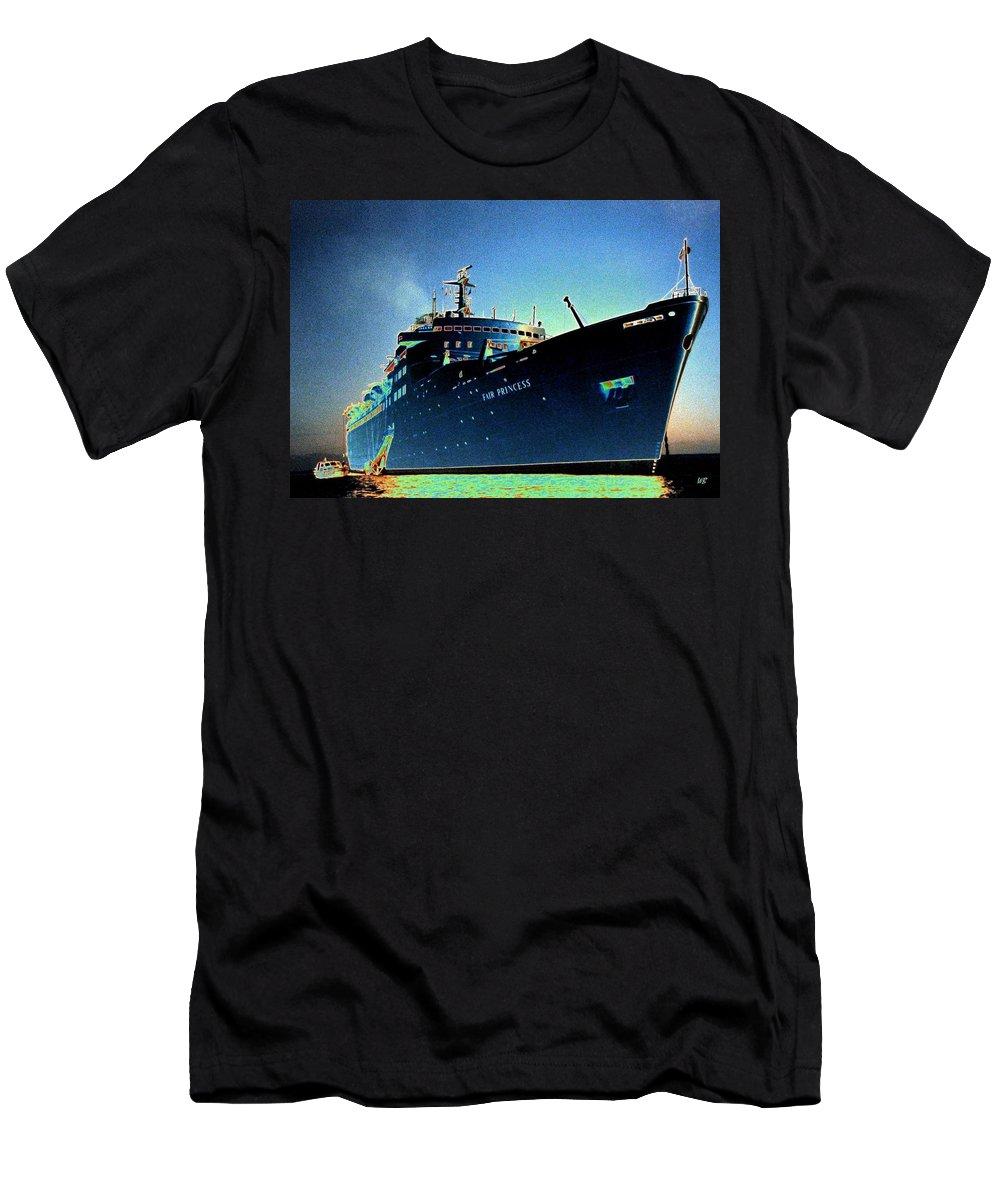 Puerto Vallarta Men's T-Shirt (Athletic Fit) featuring the digital art Shipshape 9 by Will Borden