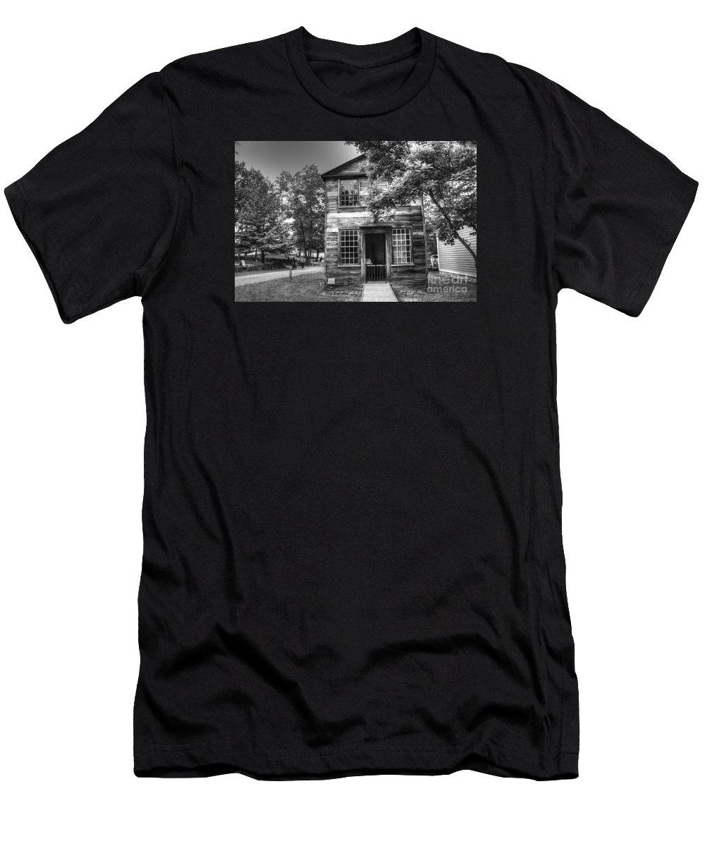 Shoemaker Men's T-Shirt (Athletic Fit) featuring the photograph Shoemaker Shop by Kathleen Struckle