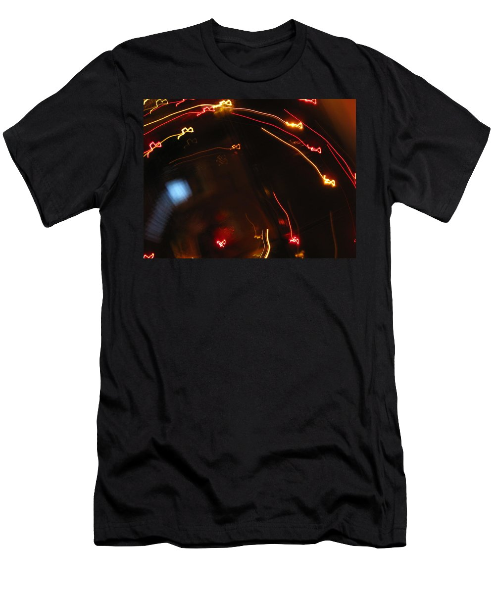 Dancing Lights Men's T-Shirt (Athletic Fit) featuring the photograph Shooting Hearts by Ausra Huntington nee Paulauskaite