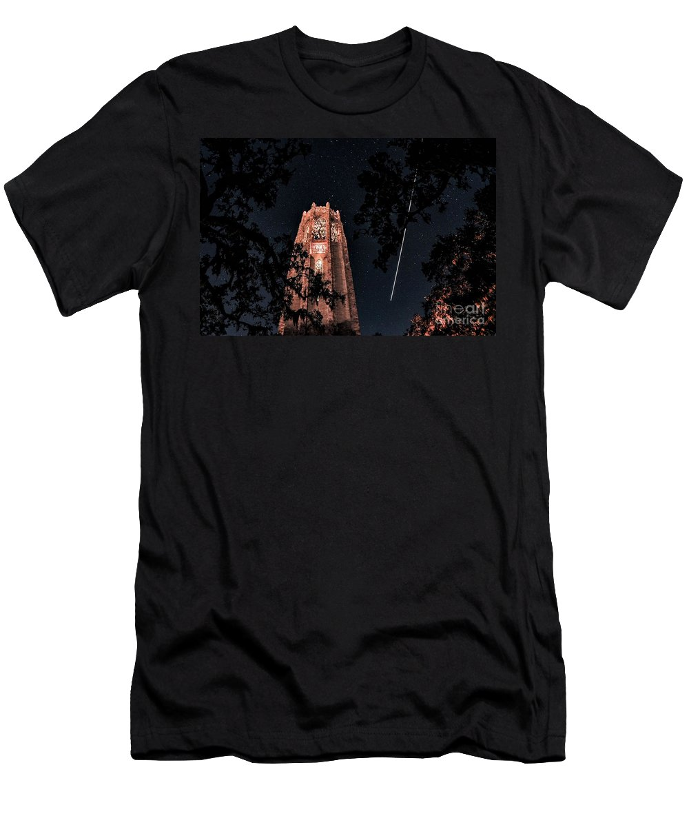 Landscape Men's T-Shirt (Athletic Fit) featuring the photograph Shooting Star by Kenny Brachle