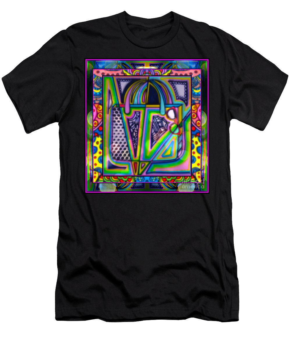 Shopping By Wbk Men's T-Shirt (Athletic Fit) featuring the mixed media Shopping by Wbk