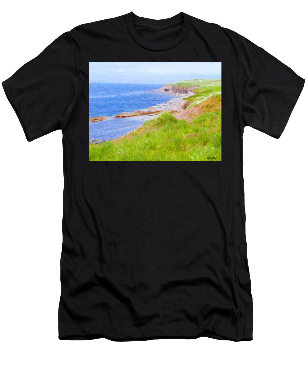 Canadian Men's T-Shirt (Athletic Fit) featuring the painting Shores Of Newfoundland by Jeffrey Kolker