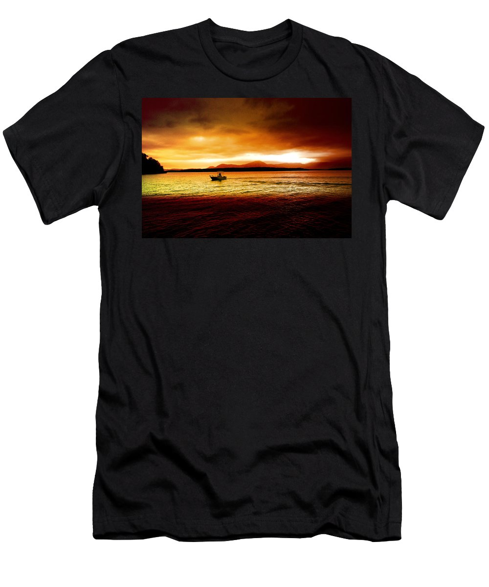 Landscape Men's T-Shirt (Athletic Fit) featuring the photograph Shores Of The Soul by Holly Kempe