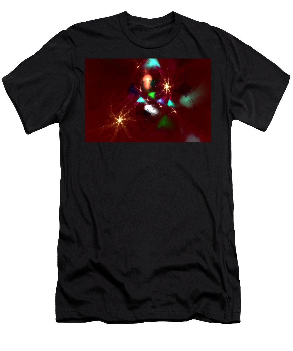 Digital Painting Men's T-Shirt (Athletic Fit) featuring the digital art Short Circut by David Lane