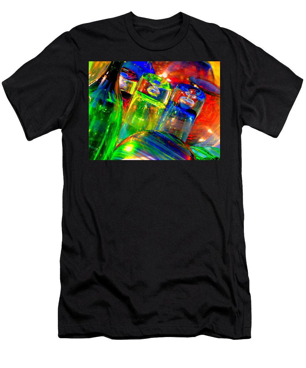 Glass Men's T-Shirt (Athletic Fit) featuring the photograph Shot Glass by Donna Blackhall