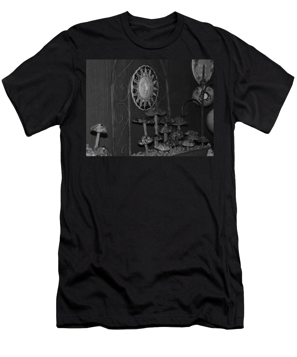 Black And White Men's T-Shirt (Athletic Fit) featuring the photograph Shrooms And Sun by Rob Hans