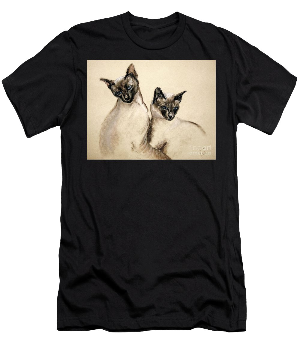 Cat Men's T-Shirt (Athletic Fit) featuring the drawing Sibling Love by Cori Solomon