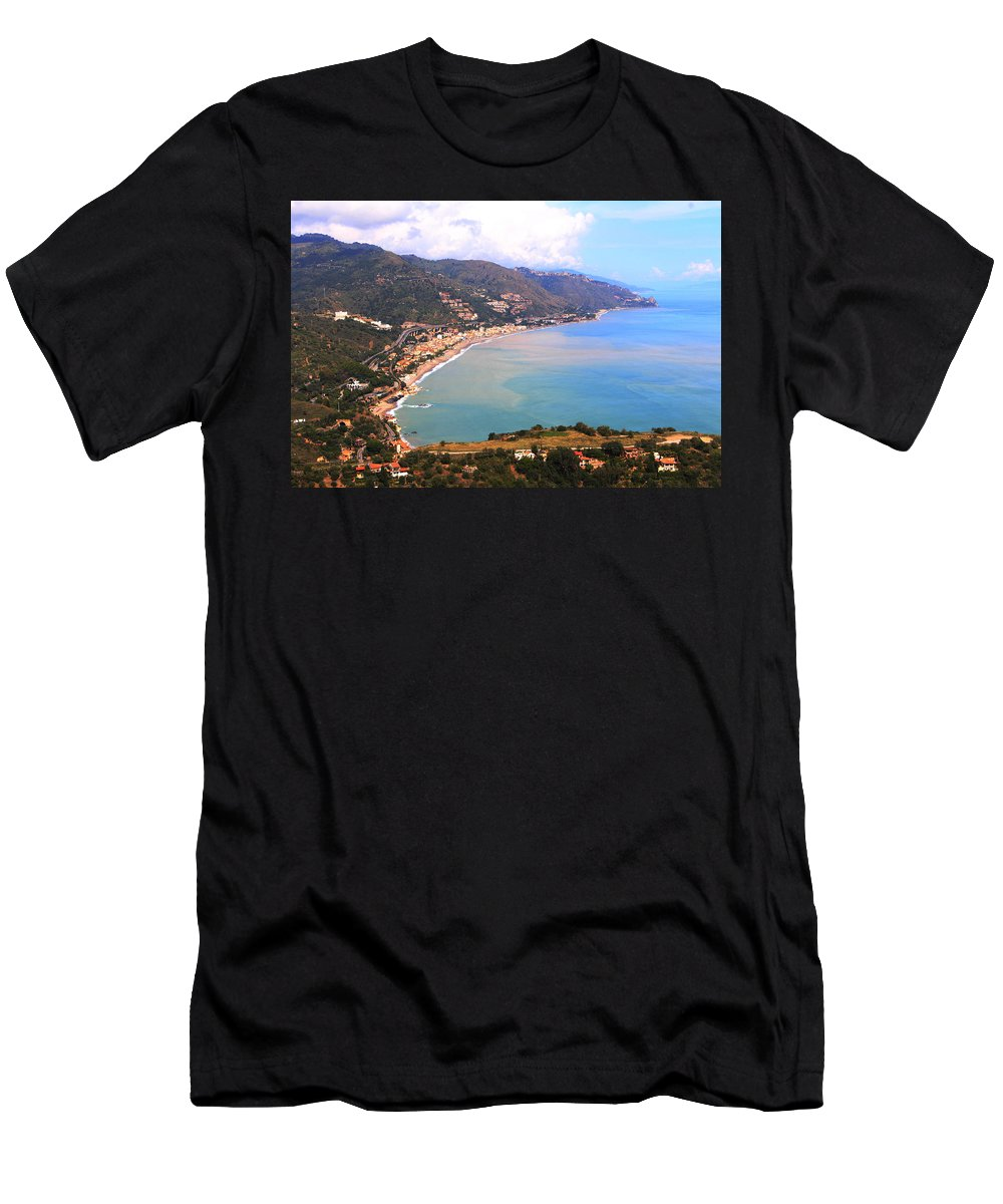 Sicily By Valerie Trot Men's T-Shirt (Athletic Fit) featuring the photograph Sicily by Valeria New