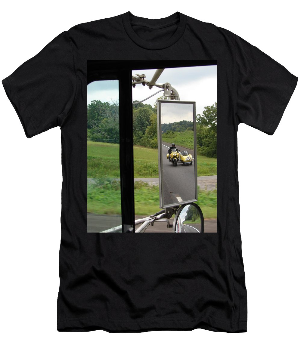 Truck Men's T-Shirt (Athletic Fit) featuring the photograph Side Car Framed by J R  Seymour