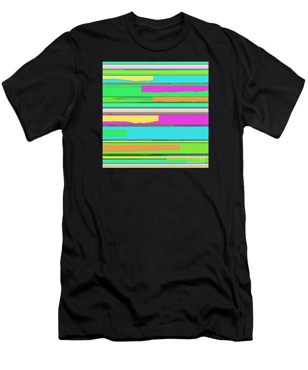 Side Streets Men's T-Shirt (Athletic Fit) featuring the digital art Side Streets 2 by Keith Mills