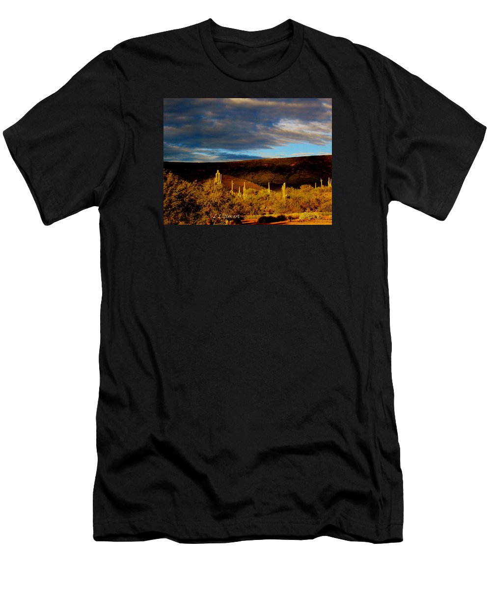 Arizona Men's T-Shirt (Athletic Fit) featuring the photograph Side Yard by L L Stewart