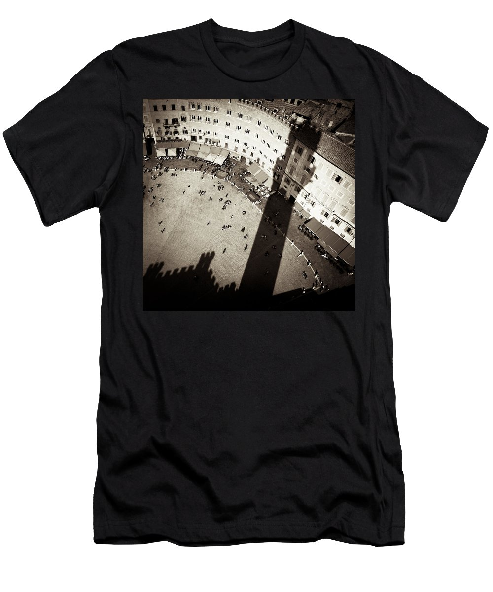 Siena Men's T-Shirt (Athletic Fit) featuring the photograph Siena From Above by Dave Bowman