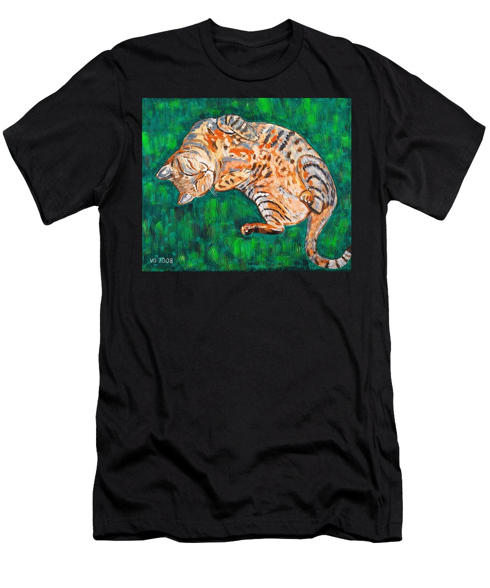 Siesta Men's T-Shirt (Athletic Fit) featuring the painting Siesta by Valerie Ornstein