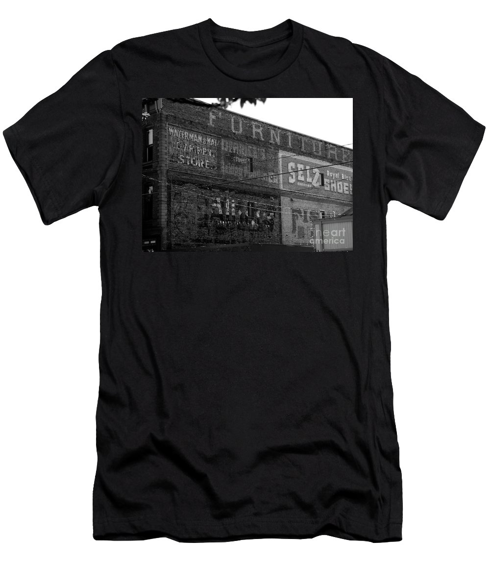 Old Men's T-Shirt (Athletic Fit) featuring the photograph Sign Of The Times by David Lee Thompson