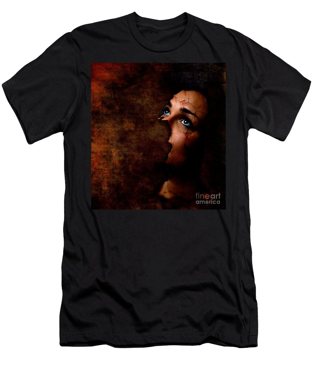 Surreal Men's T-Shirt (Athletic Fit) featuring the digital art Silenced by Jacky Gerritsen