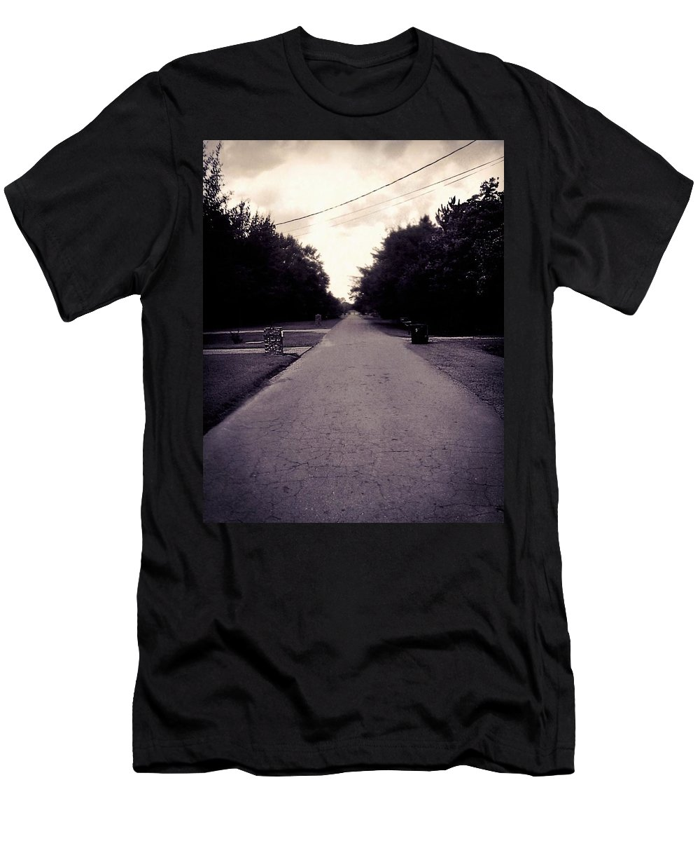 Road Men's T-Shirt (Athletic Fit) featuring the photograph Silent Road by Keri Lynn