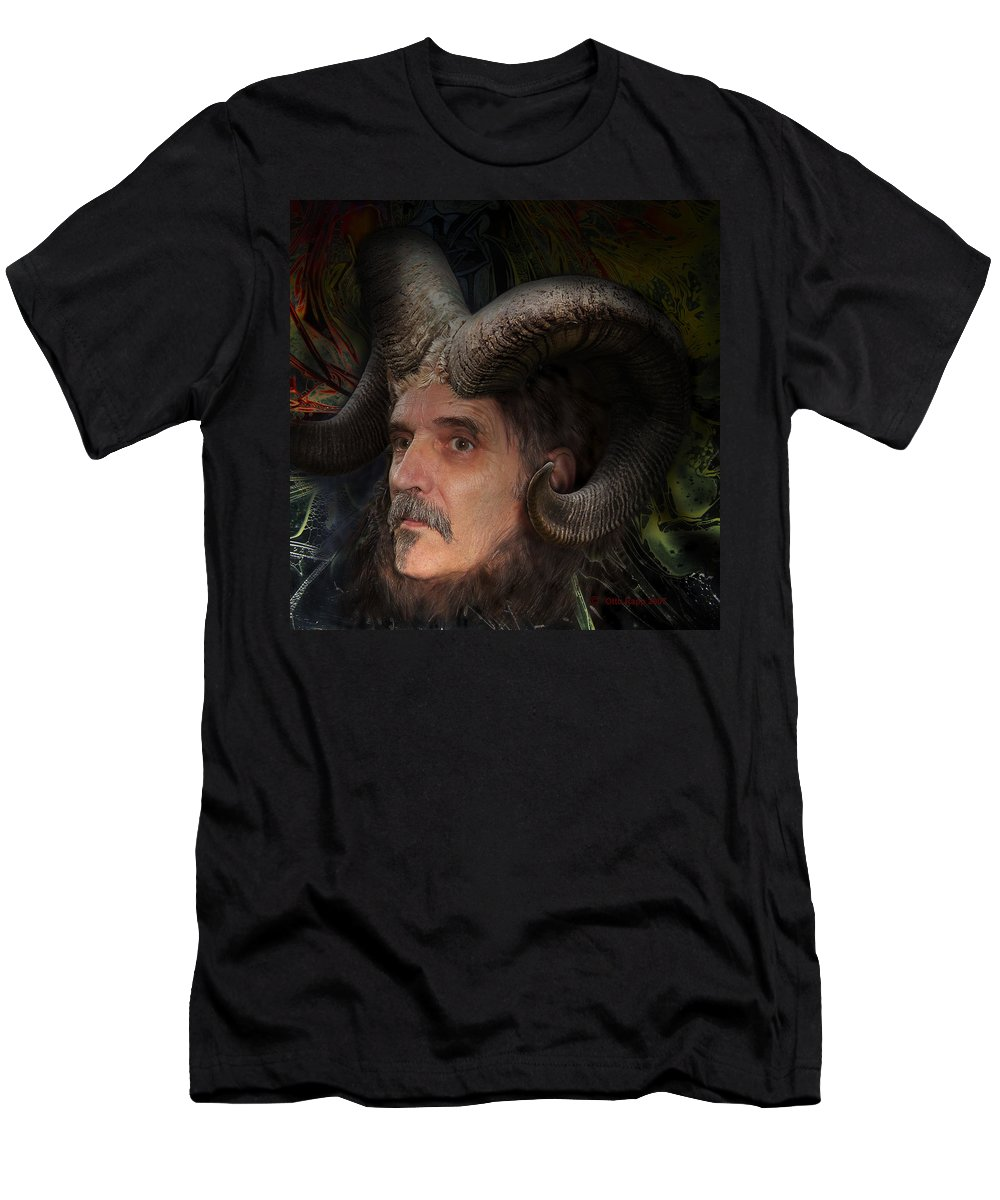 Surrealism Men's T-Shirt (Athletic Fit) featuring the digital art Silenus by Otto Rapp
