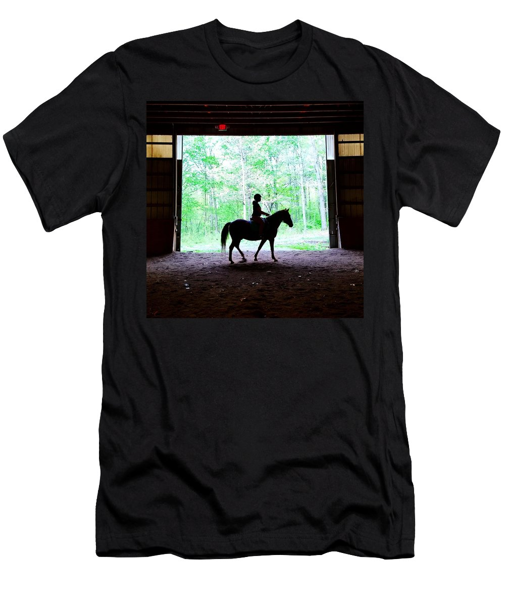 Horse Men's T-Shirt (Athletic Fit) featuring the photograph Silhouette by Jo Stone