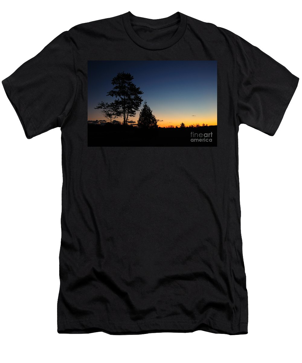 Nature Men's T-Shirt (Athletic Fit) featuring the photograph Silhouettes by Joe Ng