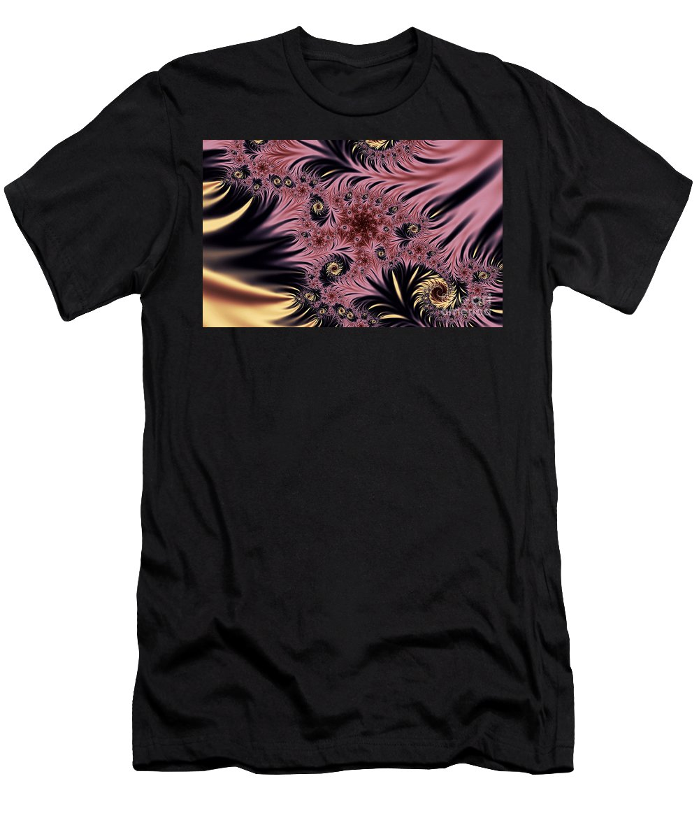 Clay Men's T-Shirt (Athletic Fit) featuring the digital art Silken Pleasures by Clayton Bruster