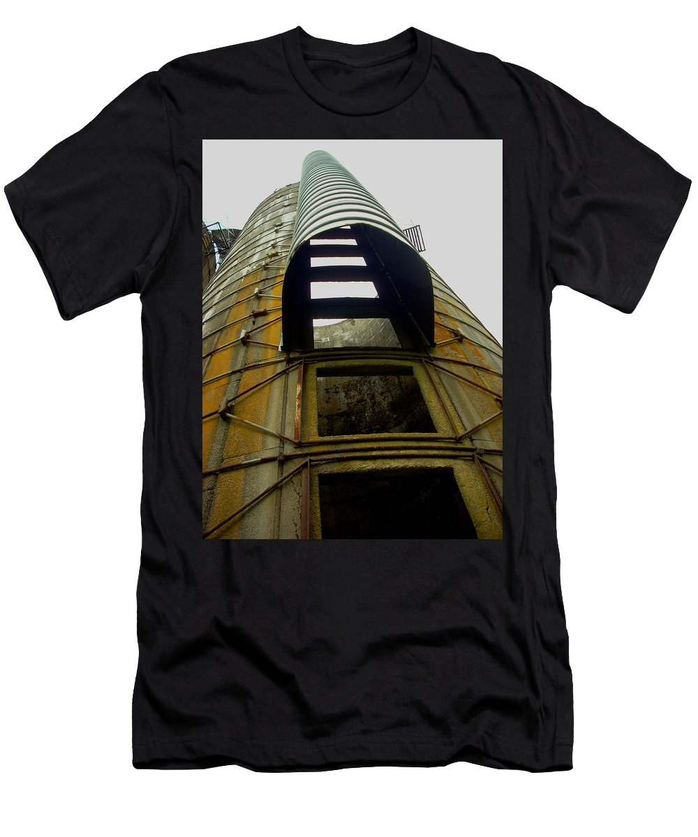 Silo Men's T-Shirt (Athletic Fit) featuring the photograph Silo 4 by Sara Stevenson