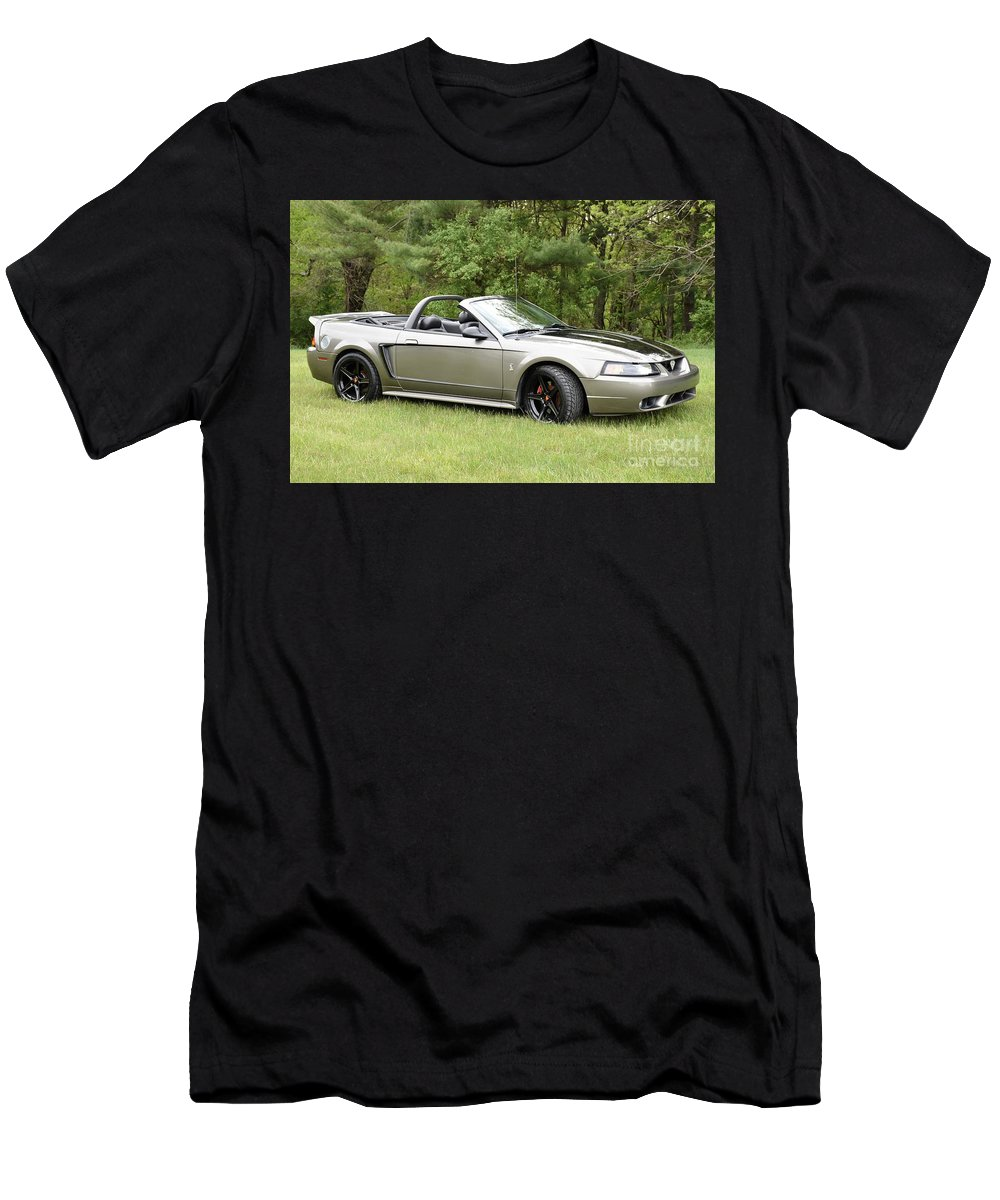 Cobra Men's T-Shirt (Athletic Fit) featuring the photograph Silver Cobra by Hughes Country Roads Photography