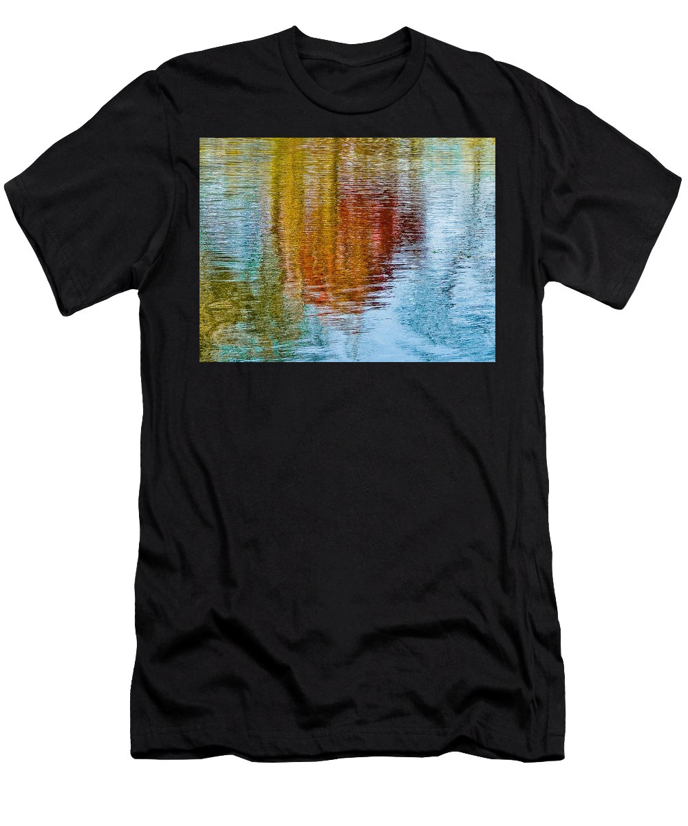 Silver Men's T-Shirt (Athletic Fit) featuring the photograph Silver Lake Autumn Reflections by Michael Bessler