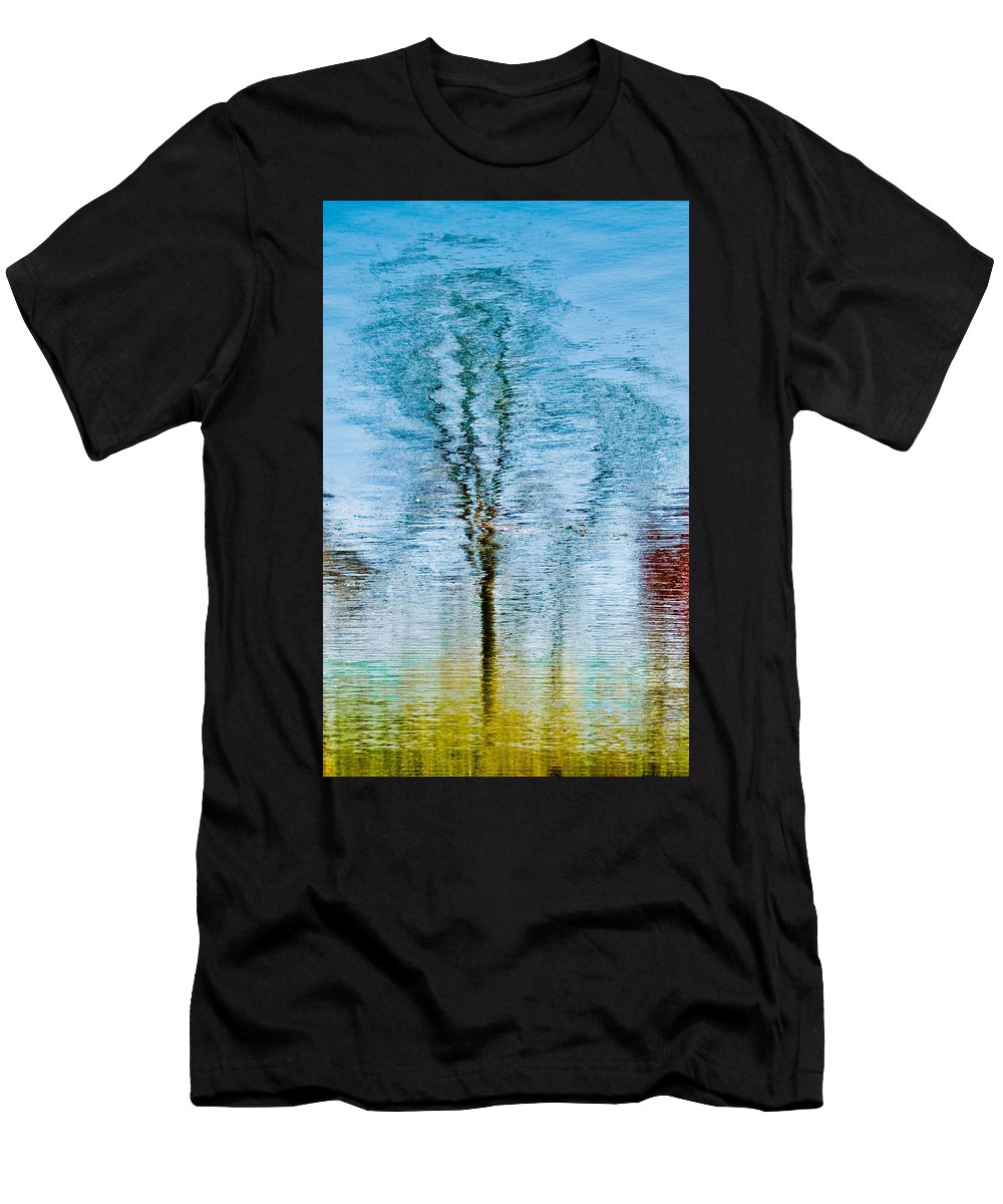 Silver Men's T-Shirt (Athletic Fit) featuring the photograph Silver Lake Tree Reflection by Michael Bessler