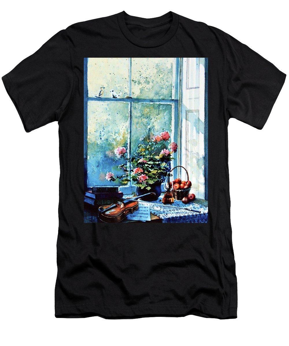 Still Life Men's T-Shirt (Athletic Fit) featuring the painting Simple Pleasures by Hanne Lore Koehler
