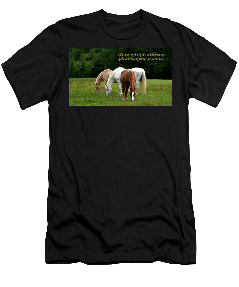 Simple Men's T-Shirt (Athletic Fit) featuring the photograph Simple Things by Tina Meador