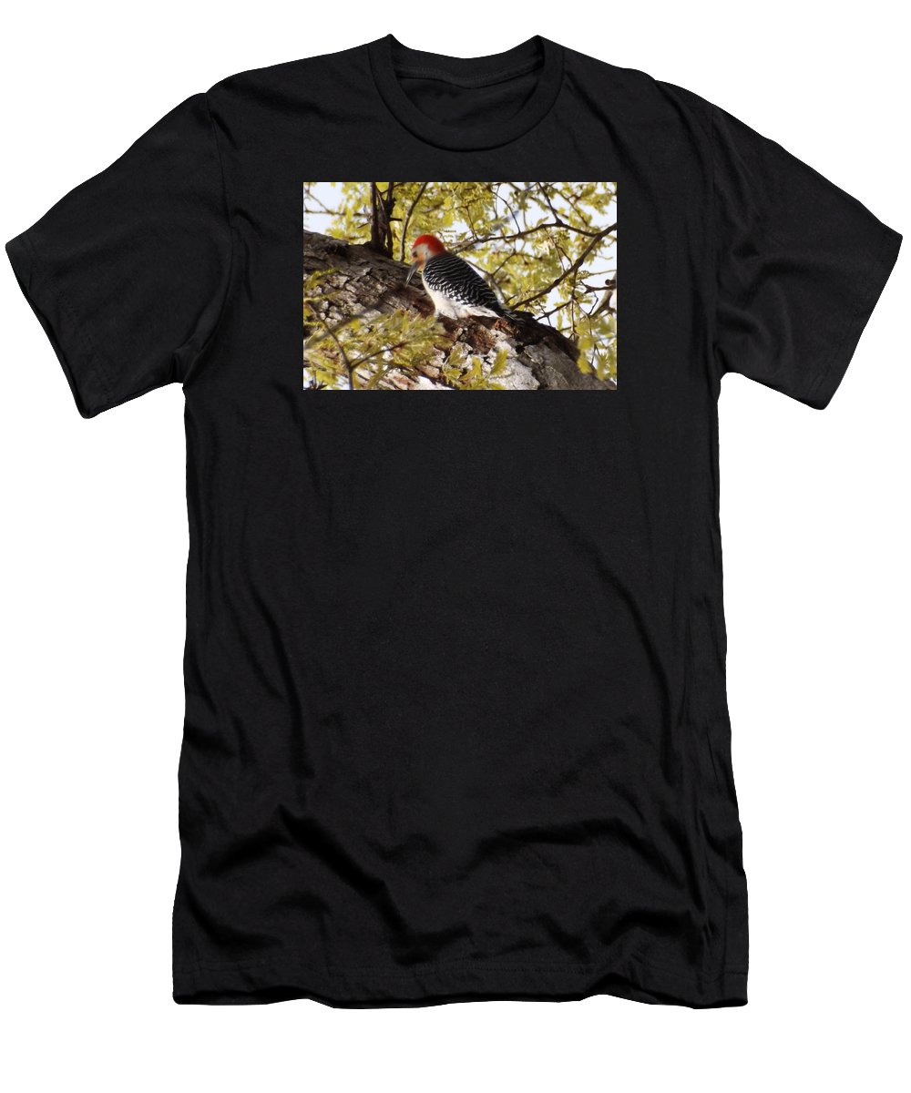 Men's T-Shirt (Athletic Fit) featuring the photograph Simply Red by Mark Dibble