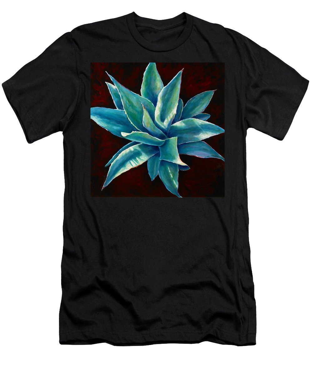 Agave Men's T-Shirt (Athletic Fit) featuring the painting Simply Succulent by Shannon Grissom