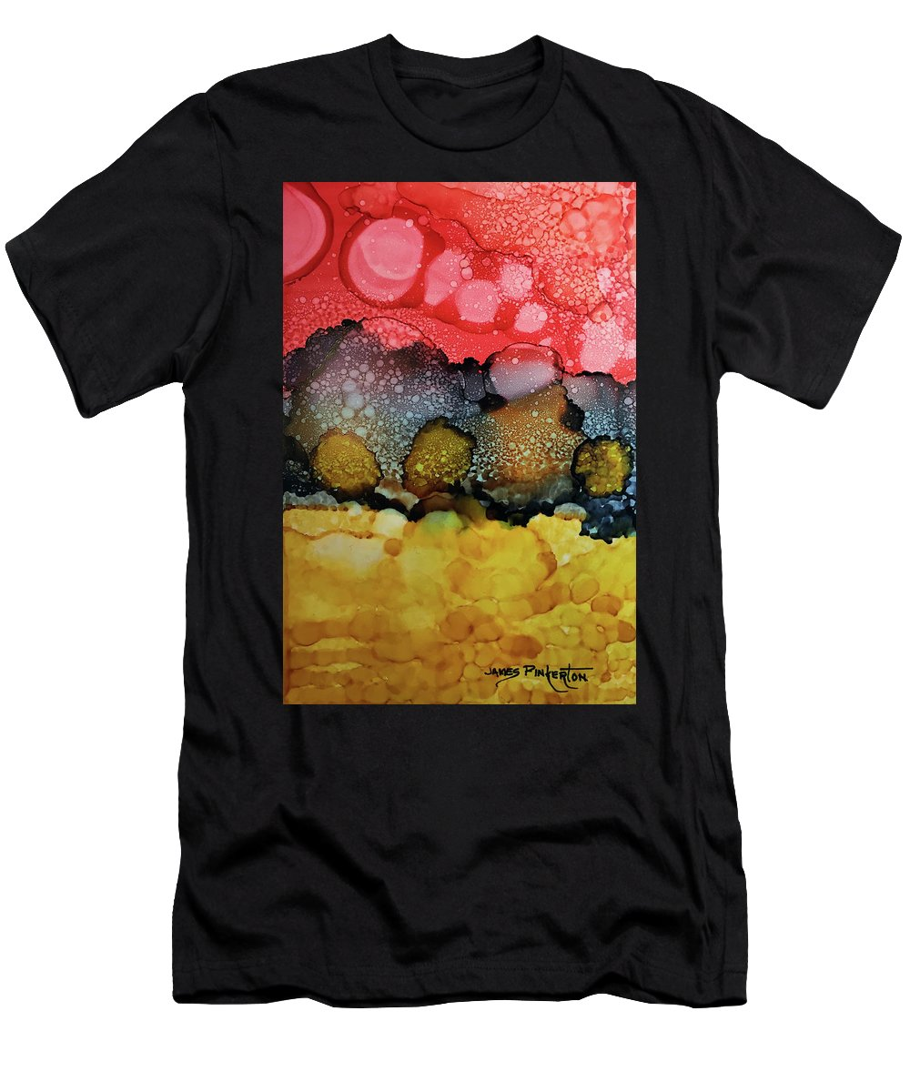 Sing For Joy Men's T-Shirt (Athletic Fit) featuring the painting Sing For Joy by James Pinkerton
