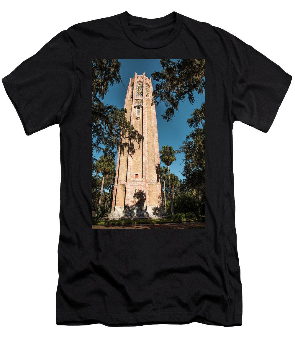 Singing Tower Men's T-Shirt (Athletic Fit) featuring the photograph Singing Tower by Zina Stromberg